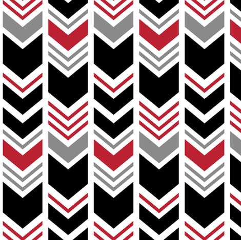 chevron - black and red fabric by littlearrowdesign on Spoonflower - custom fabric