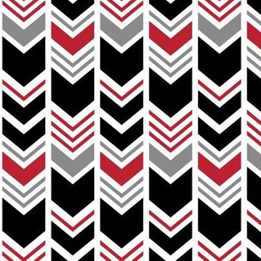 chevron - black and red