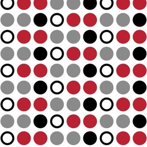 Polka Dots // red and black farm collection coordinate