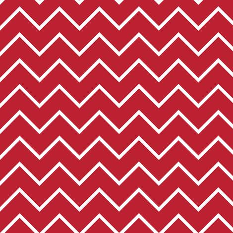 farm coordinate - traditional chevron - red fabric by littlearrowdesign on Spoonflower - custom fabric