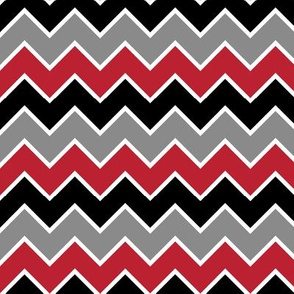 farm coordinate - traditional chevron - black red and grey