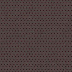 Wild at Heart / Brown & Dark Crimson Polka Dots