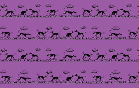SociableHounds_Boulders_Purple_ fabric by cloudsong_art on Spoonflower - custom fabric