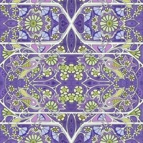Purple Paisley Leaf Spring