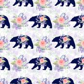 bear andfloral,  woodland
