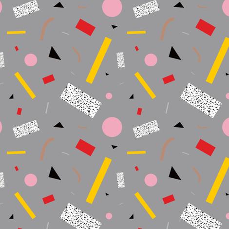 Memphis Milano Deconstructed Tahiti Table Lamp Confetti  fabric by elliottdesignfactory on Spoonflower - custom fabric