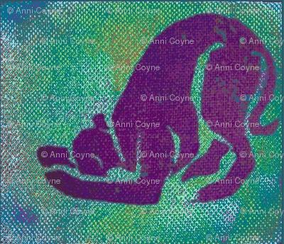 SighthoundcafeposeVioletOnGreen-Fleece_ed-ed-ed-ed