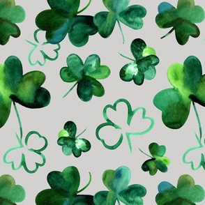 Shamrock Luck // Gray