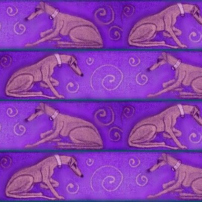 Bronze hound pairGreenBorder_Fleece-ed