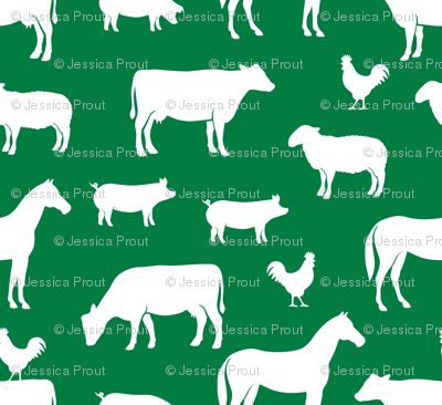 farm animal medley - green
