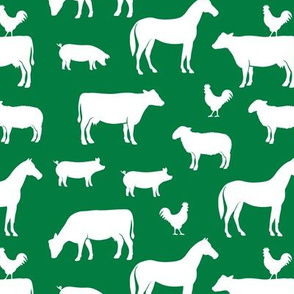 farm animal medley - green