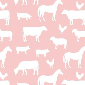 farm animal medley - pink