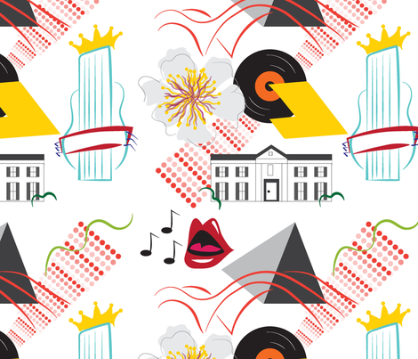 Rock & Roll Memphis Style fabric by applebutterpattycake on Spoonflower - custom fabric