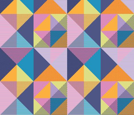 Geometric Memphis Style fabric by mkaybrinker on Spoonflower - custom fabric