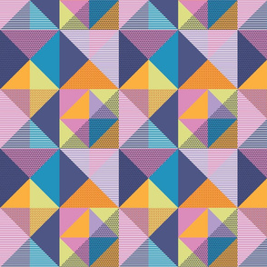 Geometric Memphis Style