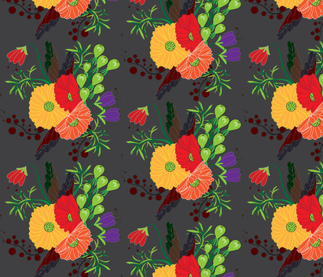 Fall For Me Rustic Fall fabric by applebutterpattycake on Spoonflower - custom fabric