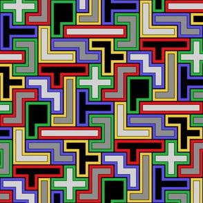 Pentomino 3,4-coloring (bright tones)