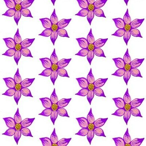 purple frida flower