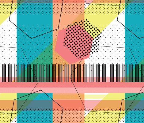 Memphis Style: Brighten Up fabric by criscj on Spoonflower - custom fabric