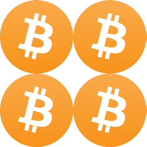 4 bitcoin coins money cryptocurrency digital currency pop