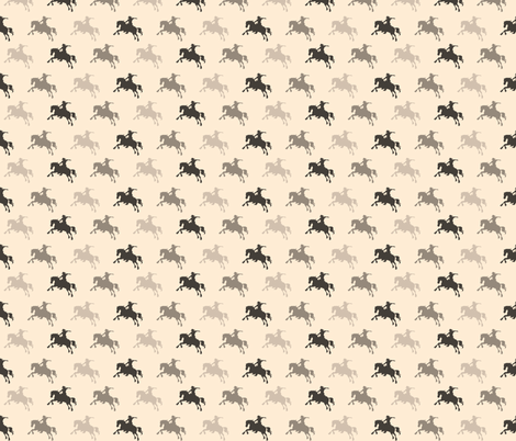 Cowboys - beiges and browns fabric by sugarpinedesign on Spoonflower - custom fabric