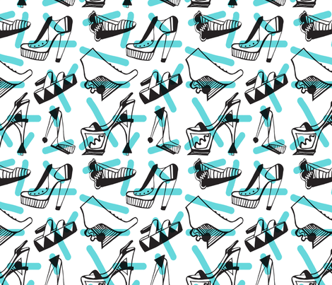 Shoe Crazy fabric by anikoch on Spoonflower - custom fabric