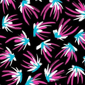 Feather Flourish - Hot Violet