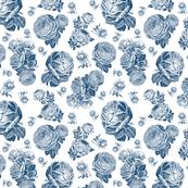 Retro Roses Blue