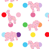 Pink Frosted Animal Cookies on Sprinkle Background