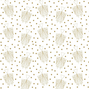 Angels and Stars - Gold & White
