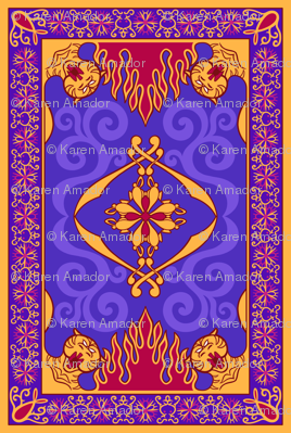 Arabian Carpet, 7in x 10.42in