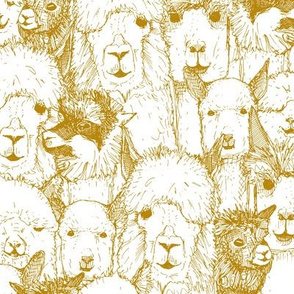 just alpacas gold white