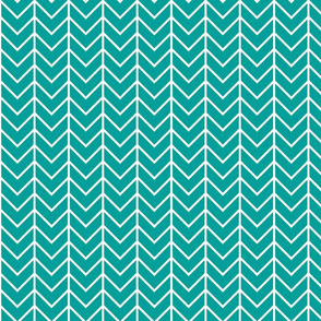 emerald chevron // 75%