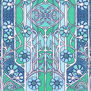 Nouveau Flower Blues