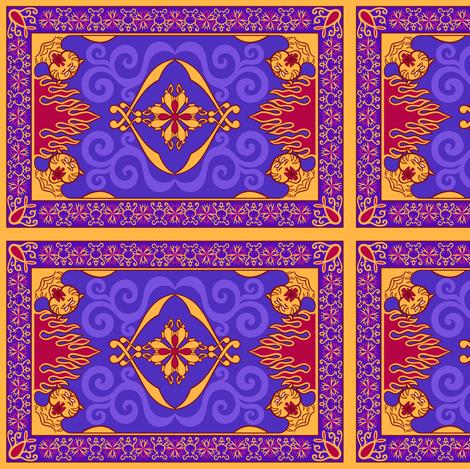 Arabian Carpet 5.96in x 4in fabric by elladorine on Spoonflower - custom fabric