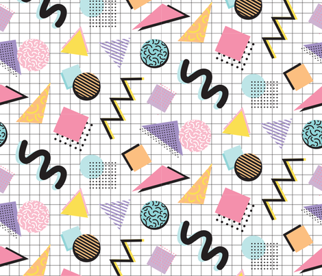 Memphis fabric by lprspr on Spoonflower - custom fabric