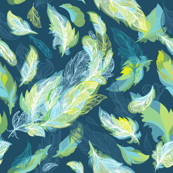 Greenery Romantic  Feathers