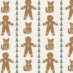 gingerbread friends in cream