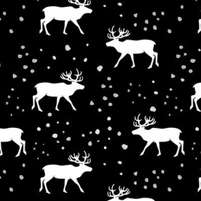 reindeer - holiday  (black and grey)