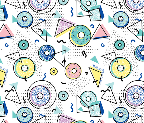 Memphis Donut Shop fabric by electrogiraffe on Spoonflower - custom fabric