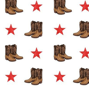 cowboy boots with red stars
