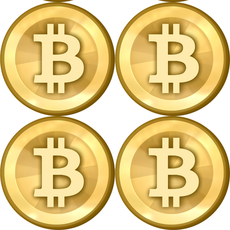 3 bitcoin coins money cryptocurrency digital currency gold pop art