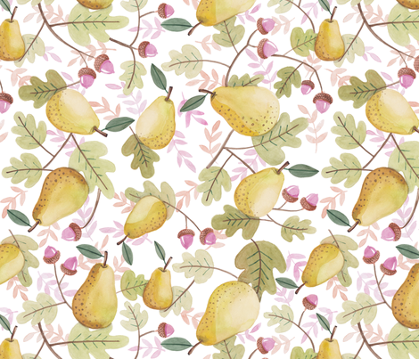 pear-acorn-patt fabric by rdewing on Spoonflower - custom fabric