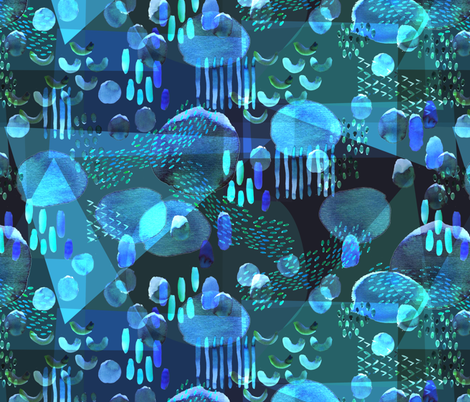 Aquamarina {Water} fabric by ceciliamok on Spoonflower - custom fabric