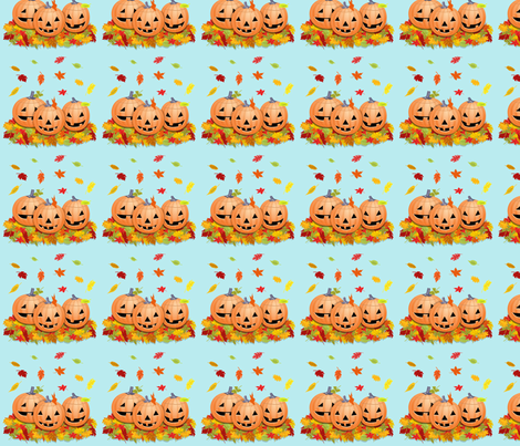 pumpkinssmallxcf fabric by doodles46 on Spoonflower - custom fabric
