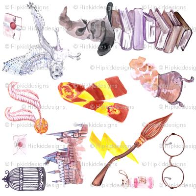 Wizard Symbols // White // Medium Scale // Railroaded