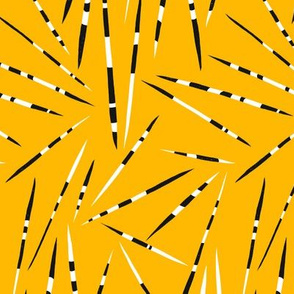 Porcupine Quills - African Print - Yellow