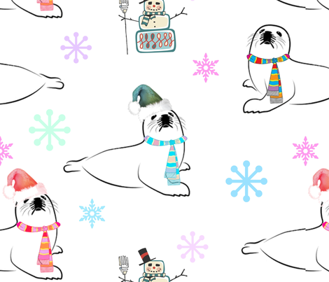 Arctic Life fabric by floramoon_designs on Spoonflower - custom fabric