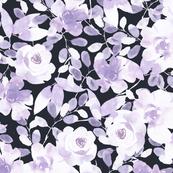 Dark violet floral design