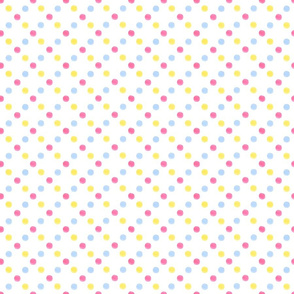 Pink blue yellow dots